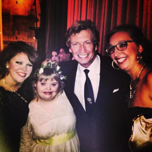 Program Director Melissa, Artistic Director Hayley and dancer Katie with Nigel Lythgoe