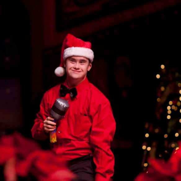 Bill performing at the holiday show