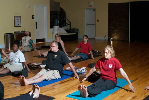 Connection yoga class