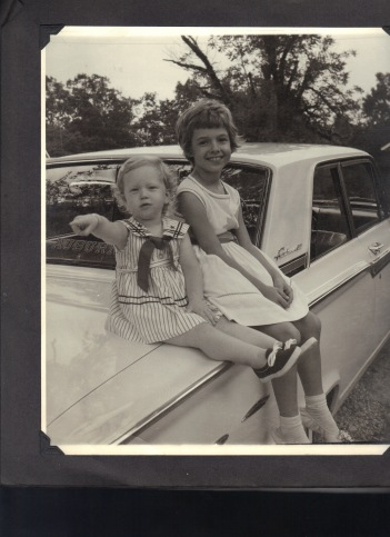 My cousin, Ann, and me, circa 1963…I'm the blonde one