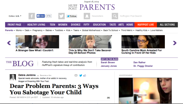 Holy cow…My post made it into The Huffington Post!
