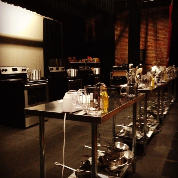Event organizers and Merrimack Hall's production team turned our stage into a kitchen!