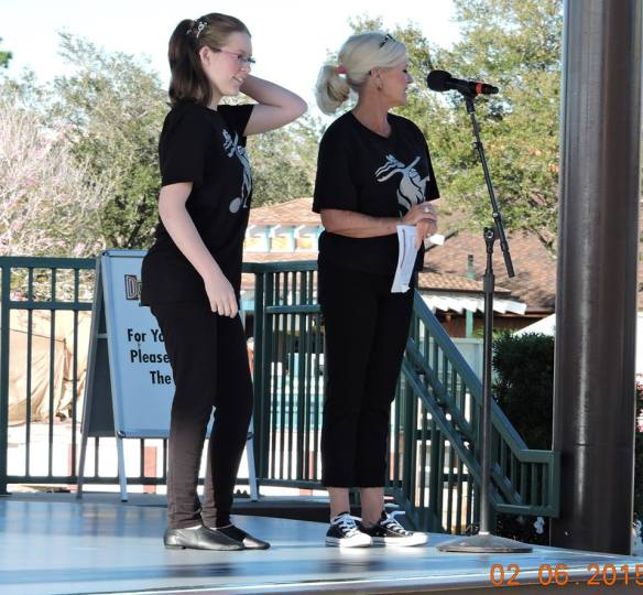 Abbey was our MC at Disney World